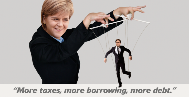 More taxes, more borrowing, more debt.